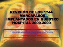 Revisión de los 1744 marcapasos (MP) implantados en nuestro