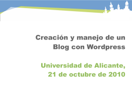 Presentación Manual WordPress