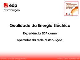 """""""Qualidade da Energia Eléctrica - Experiência"""