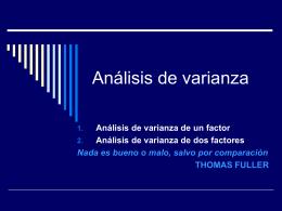 Clase C5 2010 ANALISIS DE VARIANZA