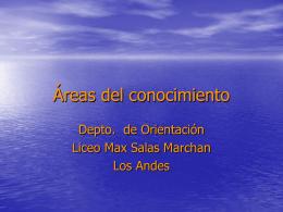 Áreas del conocimiento - Liceo Max Salas Marchán de Los Andes