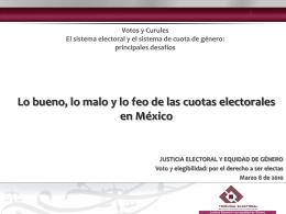 bueno, lo malo y lo feo de las cuotas electorales en México