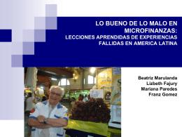 Experiencias Fallidas en America Latina-Lecciones