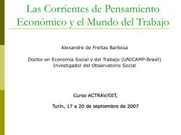 Las Corrientes de Pensamiento Económico y el