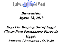 Romanos 16:19 - Calvary Chapel West