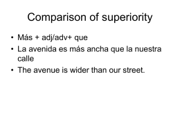 Comparison of superiority