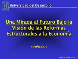 ver intervención Sr. Hernán Büchi, ex ministro de Hacienda
