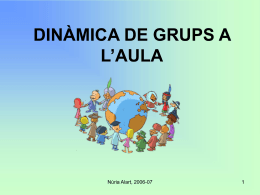 DINÀMICA DE GRUPS A L`AULA