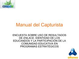 CAPTURA DE ENCUESTA