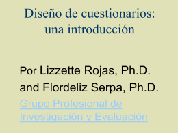 Questionnaire Design: An Introduction in Spanish