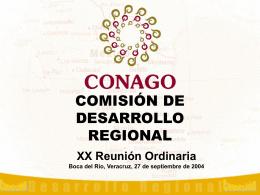 Comisión de Desarrollo Regional