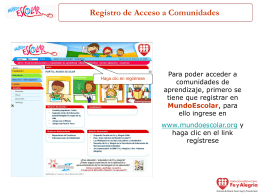 Registro de Acceso a Comunidades