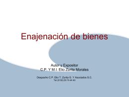 enajenación de bienes muebles - Despacho CP Elio T. Zurita y