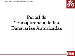 Diapositiva 1 - Proyecto sobre Filantropía y Sociedad Civil