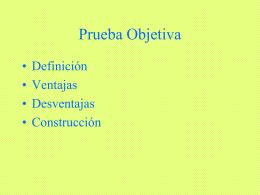 3. Prueba objetiva