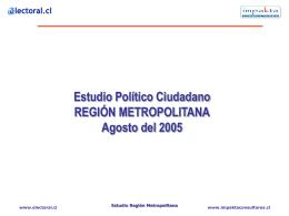 Estudio político ciudadano en la Región