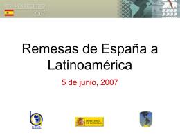 Remesas de España a Latinoamérica