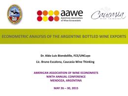 Mendoza-Presentation-2015-Aldo-Biondolillo-Econometric