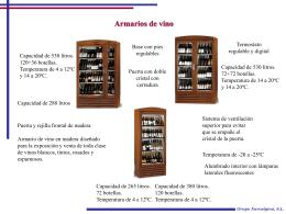 Armarios de vino