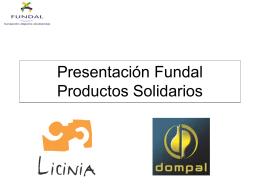 Presentación productos solidarios Fundal