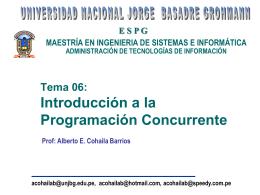 Programación Concurrente - Alberto E. Cohaila Barrios