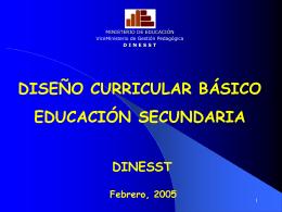 Diseño Curricular Básico - Página web de Valia Maritza