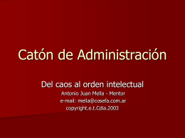 Catón de Administración - Facultad de Ciencias de la