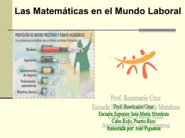 Las Matemáticas en el Mundo Laboral