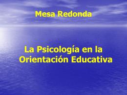 La Psicología en la Orientación Educativa