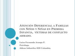 Atención Diferencial a Familias con Niños y Niñas en Primera
