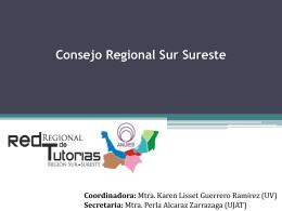 Consejo Regional Sur Sureste Primera Sesión