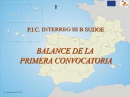 Balance de la primera convocatoria - interreg
