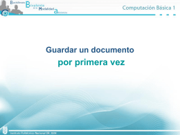 Guardar un documento por primera vez