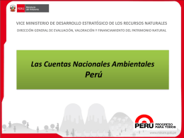 Las Cuentas Ambientales en el Perú