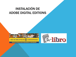 Instalación de adobe digital editions