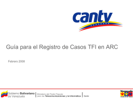 Registro de Casos en ARC para TFI_11Feb2008