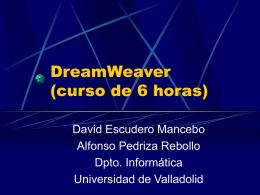Notas sobre DreamWeaver - Universidad de Valladolid