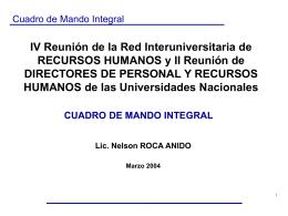 Presentaciones - Red InterUniversitaria de Recursos Humanos y