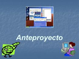 """Anteproyecto """"Lenguaje y Tecnología"""