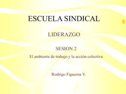 Segunda Sesión - Escuela Sindical