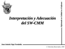 Interpretación y Adecuación del SW-CMM