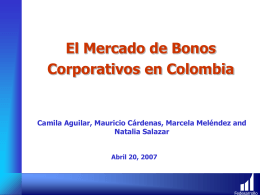 El Mercado de Bonos Corporativos en Colombia