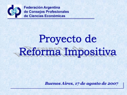Reforma Tributaria - Propuesta FACPCE