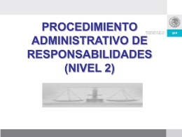 procedimiento administrativo de responsabilidades