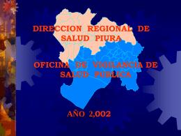 Presentación de PowerPoint - Direccion Regional de Salud Piura