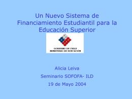 Documento de apoyo Sra. Alicia Leiva, asesora Ministerio