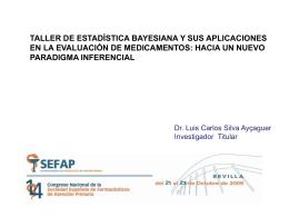 Taller Estadística Bayesiana - SEFAP