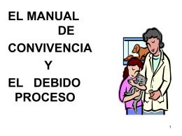el manual de convivencia y el debido proceso