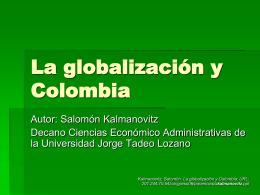 La globalización y Colombia