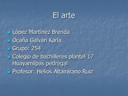 El arte - elwikidel254equipo3
